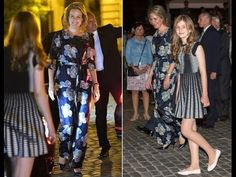 Queen Mathilde & Elisabeth at Belgian National Day Festivities Quen Mathilde & Elisabeth at Belgian National Day Festivities Queen Mathilde and Crown Princess Elisabeth of Belgium watched the fireworks display held for the Belgian National Day Festivities in the city center in Brussels on Tuesday 21 July 2015.