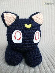 Luna Sailor Moon cat by Tsukeeno' s - Free amigurumi crocheted cat pattern