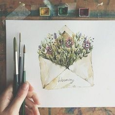 Illustration Watercolor So cute. Artist lucy_inthe_papersky Illustration WatercolorSource : So cute. Artist lucy_inthe_papersky by anifhrnhlz Watercolor Cards, Watercolor Illustration, Watercolour Painting, Watercolor Flowers, Painting & Drawing, Painting Flowers, Painting Tools, Watercolors, Illustration Fashion