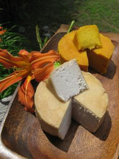 the happy raw kitchen: Raw Vegan Cheese *This appears to be both a lot of work, plus expensive due to the nuts she used.  However it might just be worth it....
