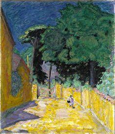 """salantami: """" Pierre Bonnard (1867-1947), Ruelle à Vernonnet, 1912-1914. """""""