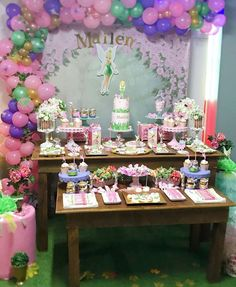 Violeta Glace 's Birthday / Tinkerbell - Photo Gallery at Catch My Party Fairy Birthday, Birthday Parties, Festa Thinker Bell, Tinkerbell Party, I Party, Photo Galleries, Girly, Cake, Tinkerbell