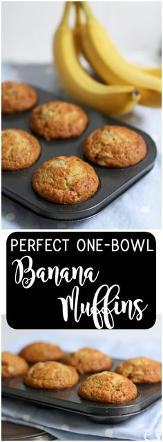 Easy Bread Recipes, Banana Bread Recipes, Muffin Recipes, Cooking Recipes, Simple Recipes, Best Banana Muffins Ever, Banana Bread Muffins, Best Nutrition Food, Proper Nutrition