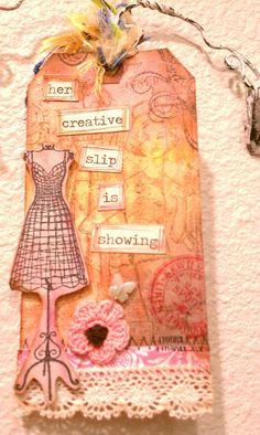 Dress form Art Tag