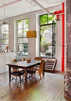 Casinha colorida: Salas de jantar: estilo loft, que continua com tudo em 2015