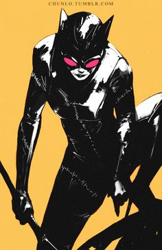 chunlo:  When I'm bored I just sketch out Catwoman evidently…