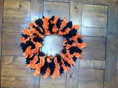 Dollar Tree napkins Halloween Wreath