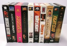 10 VHS Video Tape Collection Lot Movies Collection Drama Fight Club Cast Away