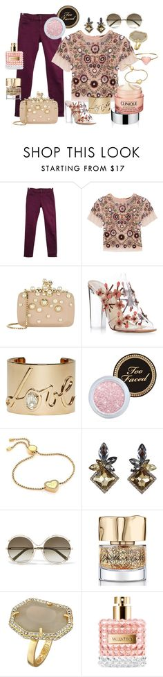 """""""Mauve Springtime"""" by rvqueen on Polyvore featuring The Kooples, Needle & Thread, Elie Saab, Paul Andrew, Lanvin, Too Faced Cosmetics, Michael Kors, Chloé, Smith & Cult and Vince Camuto"""