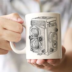 Rolleiflex Ceramic Mug by ClickandBlossom on Etsy