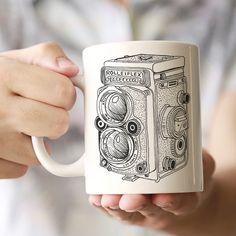 Rolleiflex Ceramic Mug by ClickandBlossom on Etsy