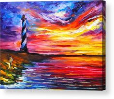 Lighthouse - New Acrylic Print by Leonid Afremov. All acrylic prints are professionally printed, packaged, and shipped within 3 - 4 business days and delivered ready-to-hang on your wall. Choose from multiple sizes and mounting options.