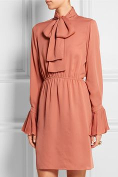 Gucci | Pussy-bow silk-georgette dress | NET-A-PORTER.COM
