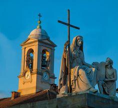 I colori dell'alba sul Po - Chiesa della Gran Madre