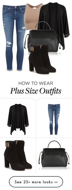"""""""Untitled #266"""" by lionessrose on Polyvore featuring AG Adriano Goldschmied, Lanvin and Salvatore Ferragamo"""