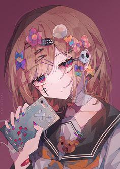 Cool Anime Girl, Kawaii Anime Girl, Anime Art Girl, Manga Art, Kawaii Drawings, Cute Drawings, Cute Anime Character, Character Art, Anime Chibi