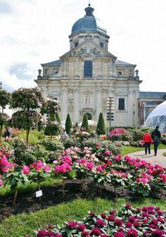 Floralias de Gante,Bélgica, en abadía de San Pedro