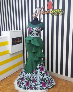Available for immediate purchase. This year make a statement without even saying a word just wear t. African Maxi Dresses, Ankara Dress Styles, African Fashion Ankara, Latest African Fashion Dresses, African Print Fashion, Africa Fashion, African Attire, Indian Dresses, African Lace Styles