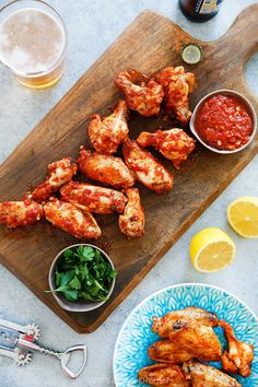 Baked Saucy Garlic Wings by @Lexiscleankitch