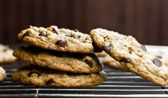 Vegan Chocolate Chip Cookies by Oh She Glows (Modifications by Morgan: (use 1/4 cup applesauce and 1/4 cup earth balance instead of 1/2 c earth balance - all whole wheat pastry flour - add 1/2 cup crushed roasted hazelnuts)