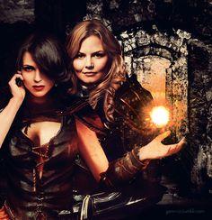 Regina Mills & Emma Swan - OUAT - Once upon a time - Jennifer Morrison - Lana Parrilla #SwanQueen