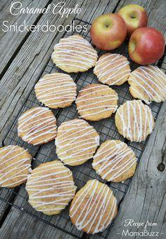 Caramel Apple Snickerdoodles Fall Recipe {MamaBuzz - mamabzz.com} #fallrecipe