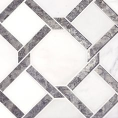 Seville Carrara White Waterjet Marble Mosaic - 13 x 13 - 100480656 Marble Mosaic, Mosaic Glass, Mosaic Tiles, Tiling, Carrara, Parts Of Stairs, Polished Porcelain Tiles, Stone Tiles, Tile Wood