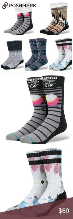 5 Pairs Mens Boys Medium Stance Socks Crew $72 Hot 5 Pairs of Men's Boys Medium 6 - 8.5 Stance Socks $72  Sock Designs Names: - Lo-Fi - Abroad - Cabana - Toledo - Dissolve Stance Underwear & Socks Casual Socks
