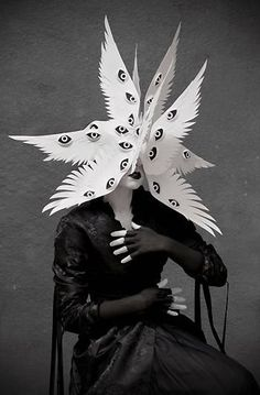 angel halloween costumes The Angelic Host Mask by Philip Valdez Photo/styling by Eliza Lazo de Valdez Arte Fashion, Fashion Fashion, Arte Horror, Foto Art, Graphic, Costume Design, Dark Art, Rupaul, Art Inspo