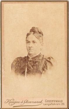 CDV photo Damenportrait - Greifswald 1890er | eBay, Krüger & Skowranek, Greifswald, Langefuhrstr. 25