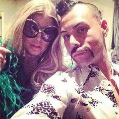 Fergie looking in LAUTNER Frames in Black w/ Grey Gradient Lens Big thank you to Andre Black Eyed Peas, Eyewear, Round Sunglasses, Retro Vintage, Frames, Lens, Selfie, Grey, Big