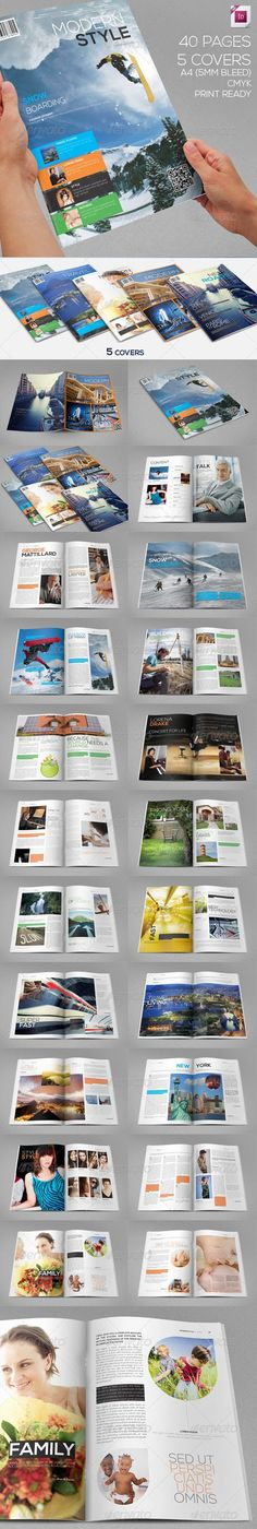 Modern Style Magazine | 40 Pages | 5 Covers - GraphicRiver Item for Sale