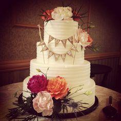 Rustic Wedding Cake #loveissweet