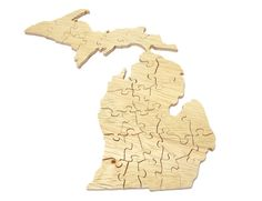 Michigan Jigsaw Puzzle Made from Wood by berkshirebowls on Etsy