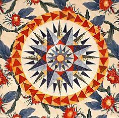 """Haleakala"" Mariner's Compass Quilt by Lisa Boyer by dorkyquilts, via Flickr"