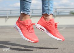 Nike Wmns Air Max 1 Ultra Moire (Hot Lava / Hot Lava - White)