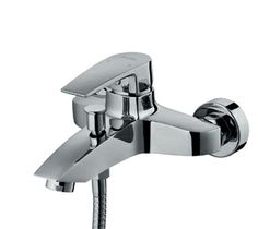 Single handle bathtub mixer •	Material: Solid brass (Lead free brass available) •	Configuration: 2 holes installation with 1 handle, Long life and smooth operation •	Finish: Chrome •	Components: Sedal/ Kerox cartridge; Neoperl aerator; Tucai/ Watts stainless steel hose •	OEM orders are welcome •	Origin: Vietnam •	http://www.italisa.com/ •	Contact email: lora.nghiem@italisa.com