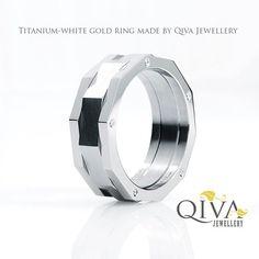 Unique Masculine Mens Ring Wedding band 10 Diamonds Titanium White Gold Palladium Platinum. Handmade. Manly. Any size. Colored diamonds. on Etsy, $2,690.00