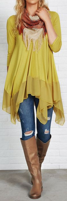 $21.99 Only with free shipping&easy return! Be the foremost authority in comfy fashion with this Top! It is detailed with flowy splicing fabric&irregular hem! So chic&cozy at Cupshe.com
