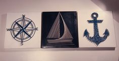 Nautical String Art Set of 3