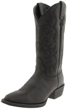 """Justin Boots Men's 13"""" Stampede Boot,Black Deercow/Black Deercow,13 EE US - http://authenticboots.com/justin-boots-mens-13-stampede-bootblack-deercowblack-deercow13-ee-us/"""