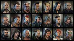 Dragonfall portraits, by David Nash
