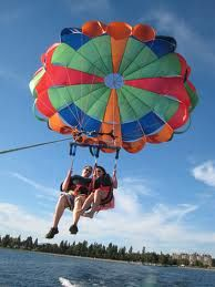 Parasailing with my lover #bucketliststatus
