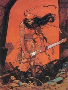 Elektra by Moebius  [Edit: Corrected incorrect title as Red Sonja]