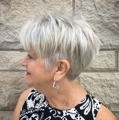 Best 12 Hairstyles for Women Over 60 to Look Younger | Pouted.com Over 60 Hairstyles, Short Spiky Hairstyles, Fringe Hairstyles, Twist Hairstyles, Short Hairstyles For Women, Short Haircuts, Hairstyles 2018, Elegant Hairstyles, Haircut For Older Women