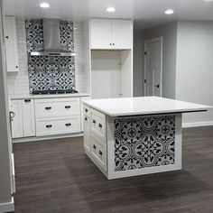 Your backsplash is a significant region of the kitchen. Installing kitchen backsplash is an amazingly simple weekend project. Read What To Consider Wh. Modern Kitchen Cabinets, Kitchen Redo, Home Decor Kitchen, Kitchen Styling, Kitchen Interior, Kitchen Remodel, Kitchen Design, Kitchen Tiles, Spanish Tile Kitchen