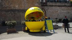 lemonade kiosk lemon shape street stall