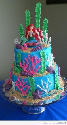 Little Mermaid cake. I NEEEED DIS!! @Sanja Murga @Jo Beth Taylor