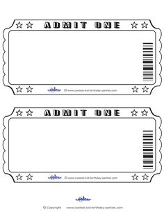 Delicieux Blank Printable Admit One Invitations   Coolest Free Printables