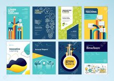 Set Of Brochure Design Templates On The Subject Of Education,. with School Brochure Design Templates - Great Professional Templates Poster Sport, Poster Cars, Poster Retro, Brochure Templates Free Download, Free Brochure, Travel Brochure Template, Brochure Ideas, Brochure Printing, Mobile Wallpaper